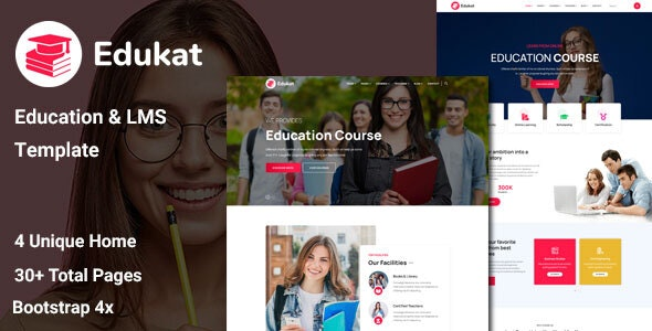 Edukat - Education and LMS Template - Business Corporate
