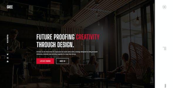 Gree - Creative Figma Template