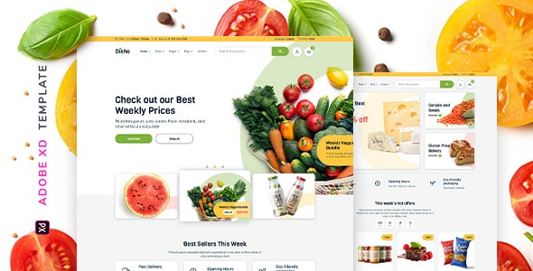 Disho – Grocery Store for XD - Food Retail