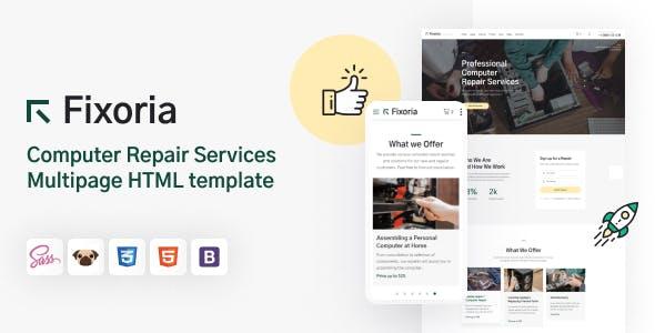 Fixoria - Computer Repair Services HTML5 Template