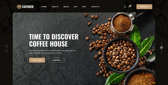Cafenod - Coffee Shop PSD Template