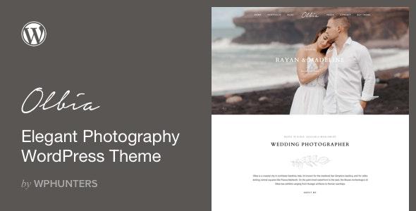 Olbia - Elegant WordPress Theme for Photographers - Photography Creative