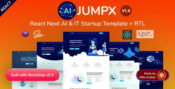Jumpx - React Next AI & IT Startup Template