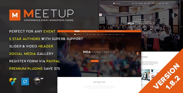 Meetup - Conference Event WordPress Theme - Events Entertainment