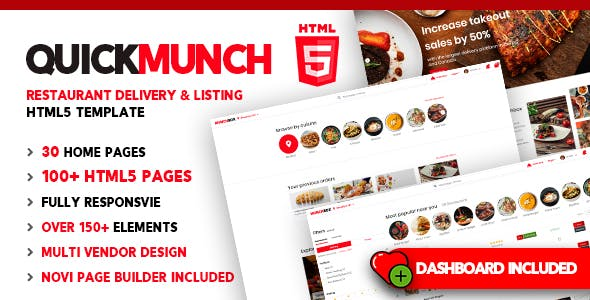 Quickmunch | Food Delivery HTML5 Template