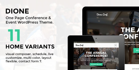 Dione – Conference & Event WordPress Theme - Events Entertainment