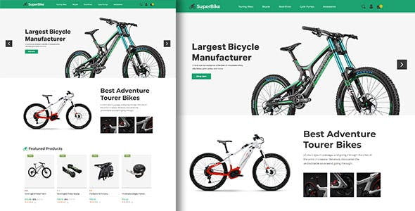 SuperBike - Bicycle  Auto Car  Electronics  Digital Art Prestashop 1.7 Theme