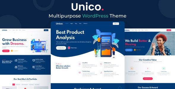 Unico - Multipurpose WordPress Theme - Business Corporate