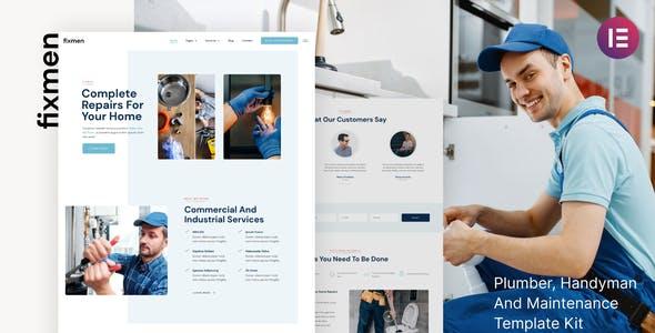 Fixmen - Handyman & Maintenance Elementor Template Kit