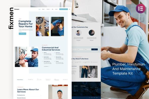 Fixmen - Handyman & Maintenance Elementor Template Kit - Business & Services Elementor