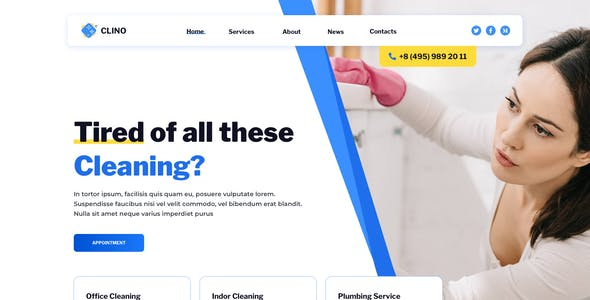 Clino – Cleaning Template for Figma