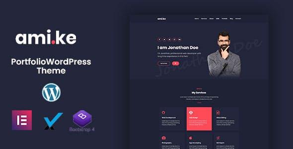 Amike | Personal Portfolio WordPress Theme