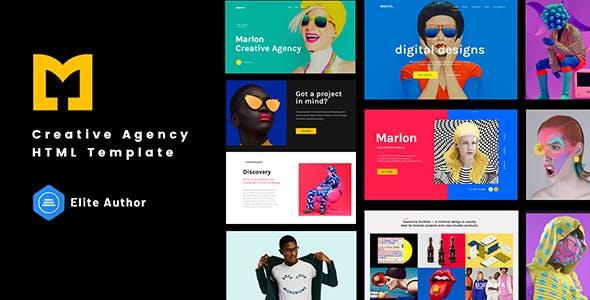 Marlon - Creative Agency Portfolio HTML Template