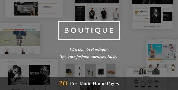 Boutique - Premium OpenCart Theme - Fashion OpenCart