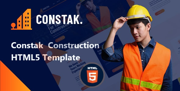 Constak – Construction HTML5 Template - Business Corporate