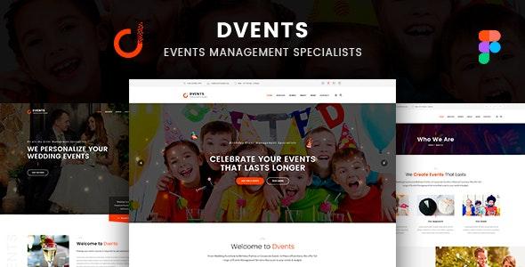 Dvents -  Figma Template - Events Entertainment