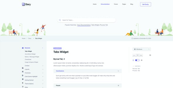 Docy - Documentation and Knowledge Base Figma Template