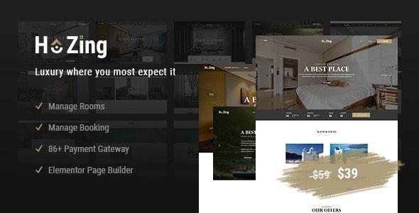 Hozing Hotel Booking WordPress Theme - Travel Retail