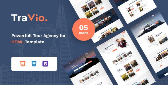 Travio - Tour & Travels Agency Template