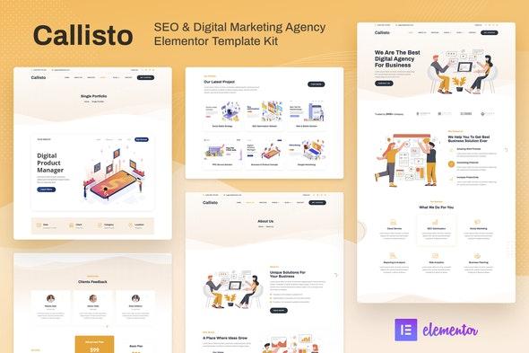 Callisto - SEO & Digital Marketing Agency Elementor Template Kit - Business & Services Elementor