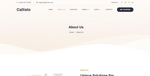 Callisto - SEO & Digital Marketing Agency Elementor Template Kit