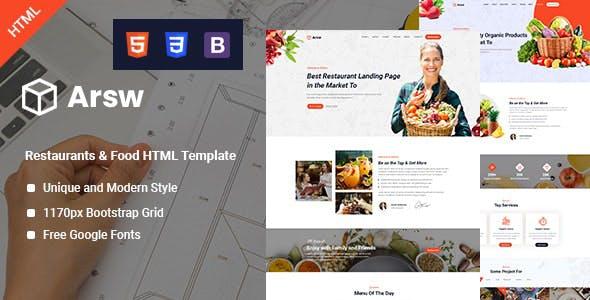 Arsw - Restaurant HTML Template