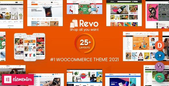 Revo - Multipurpose Elementor WooCommerce WordPress Theme (25+ Homepages & 5+ Mobile Layouts) - WooCommerce eCommerce