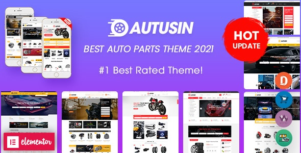 Autusin - Auto Parts & Car Accessories Shop Elementor WooCommerce WordPress Theme - WooCommerce eCommerce