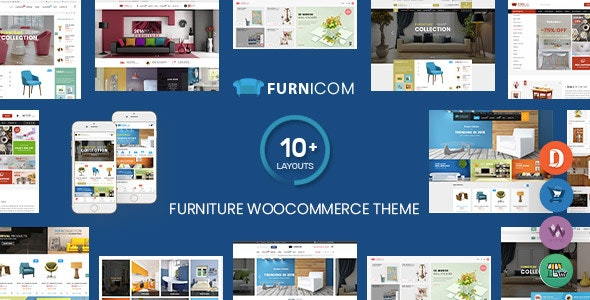 Furnicom - Furniture Store & Interior Design WordPress WooCommerce Theme (10+ Homepages Ready) - WooCommerce eCommerce