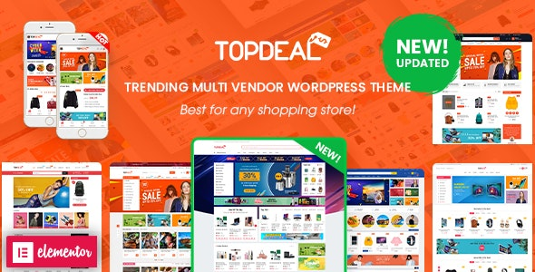 TopDeal - Multi Vendor Marketplace Elementor WooCommerce WordPress Theme (Mobile Layouts Ready) - WooCommerce eCommerce