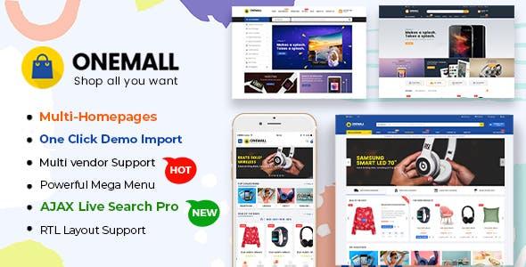 OneMall - eCommerce MarketPlace WooCommerce WordPress Theme (Mobile Layouts Included)