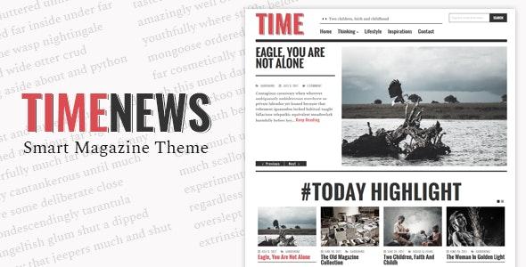 TimeNews - Publisher, Magazine, Newspaper Theme - Blog / Magazine WordPress