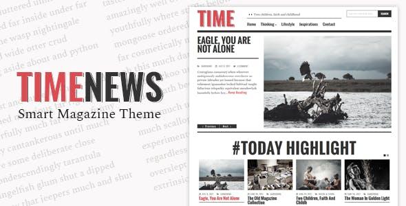 TimeNews - Publisher, Magazine, Newspaper Theme