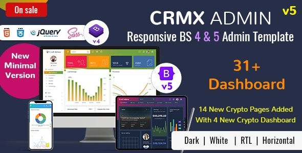 CrmX - Bootstrap Admin Dashboard Template & User Interface - Admin Templates Site Templates
