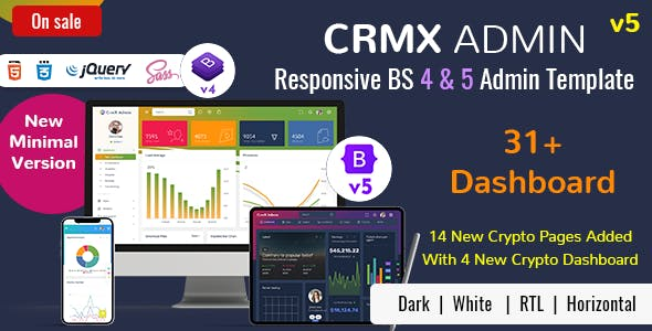 CrmX - Bootstrap Admin Dashboard Template & User Interface