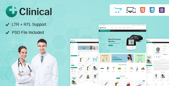 Clinical - Health Medical OpenCart Theme - Health & Beauty OpenCart