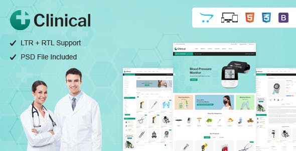 Clinical - Health Medical OpenCart Theme