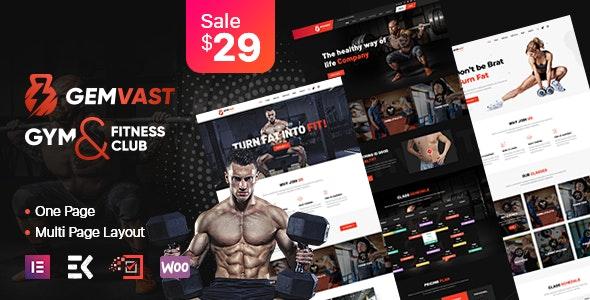 Gemvast - Gym Fitness Club Multipage, Onepage WordPress Theme - Health & Beauty Retail