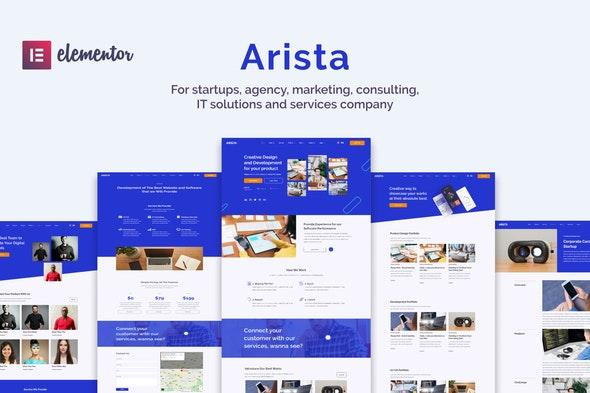Arista - Multipurpose Business Elementor Template Kit - Technology & Apps Elementor