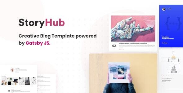 StoryHub - React Gatsby Blog Template - Creative Site Templates