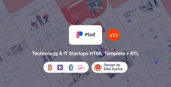Plod - Technology & IT Startup HTML Template - Technology Site Templates