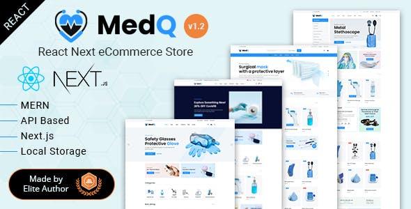 MedQ - React Next Medical eCommerce + Admin Panel