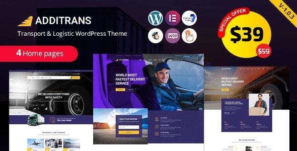 Additrans - Transport and Logistics WordPress Theme - Business Corporate