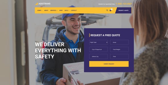Additrans - Transport and Logistics WordPress Theme