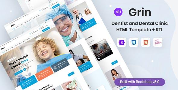 Grin - Dentist & Dental Clinic HTML Template