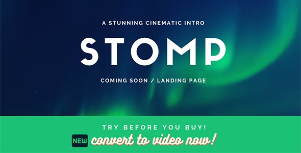Stomp - Typographic Intro Coming Soon Template - Under Construction Specialty Pages