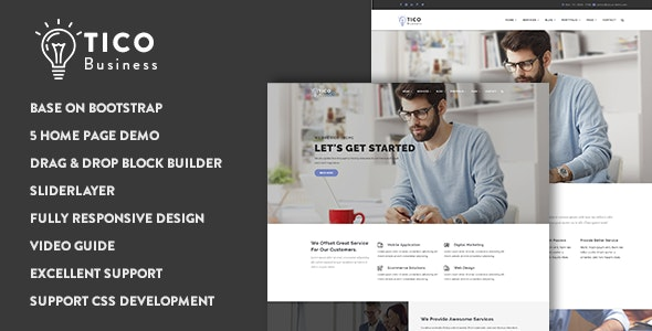Tico - Responsive Business Drupal 9 Theme - Business Corporate