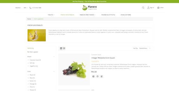 Flavoro - Organic Food Stencil BigCommerce Theme