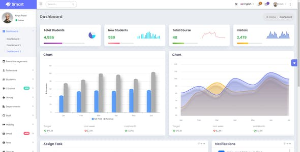 Smart - Bootstrap 5 Admin Dashboard Template for University, School & Colleges