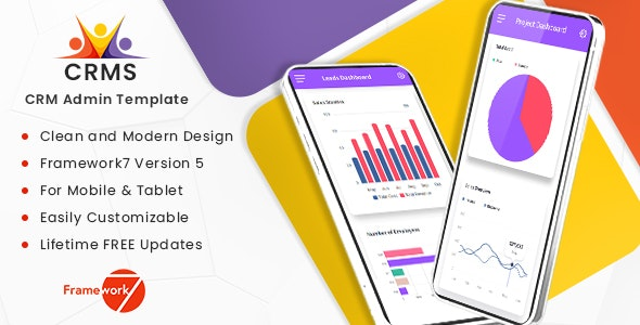 CRMS - Sales, CRM, Accounts Framework7 Mobile Template - Mobile Site Templates